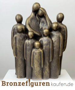 Skulptur Familie mit 7 Kindern