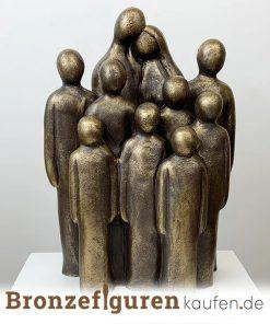 Skulptur Familie mit 8 Kindern