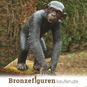 Affenfiguren aus Bronze
