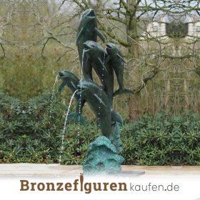 Delfin figuren bronzen auch ein brunnen