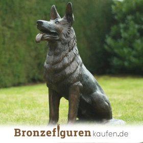 Hundenfigur bronze
